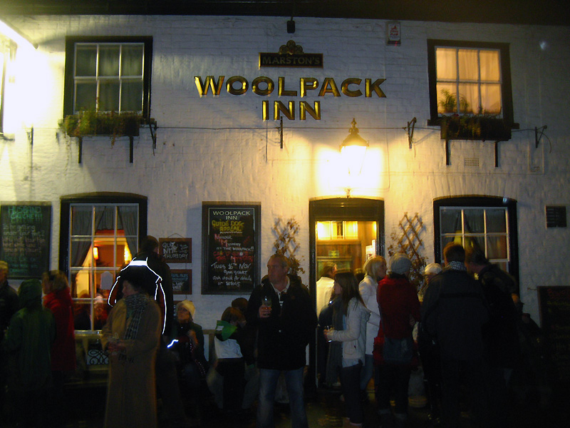The Woolpack, Beverley, Bonfire Night, November 5 2010