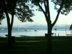 Lake Champlain at North Beach: A pretty swell (and swell-free) place to swim. Pic by Posie Strenz