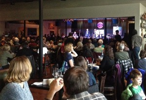 The audience at the Towne Crier for the No More Silence! concert.
