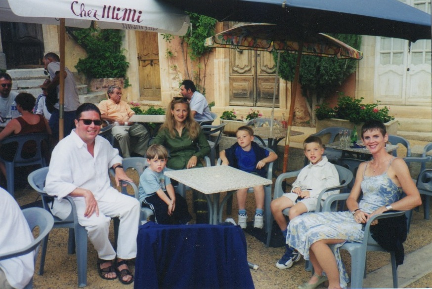 In Provence with the Verlants. L-R: Gilles, our Campbell, Annie, Victor and Oscar (or Oscar and Victor), Posie.
