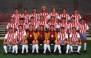 The eventual USA squad for 1994. Note a young Brad Friedel amongst the goalkeepers. Mandatory Credit: Al Bello/ALLSPORT
