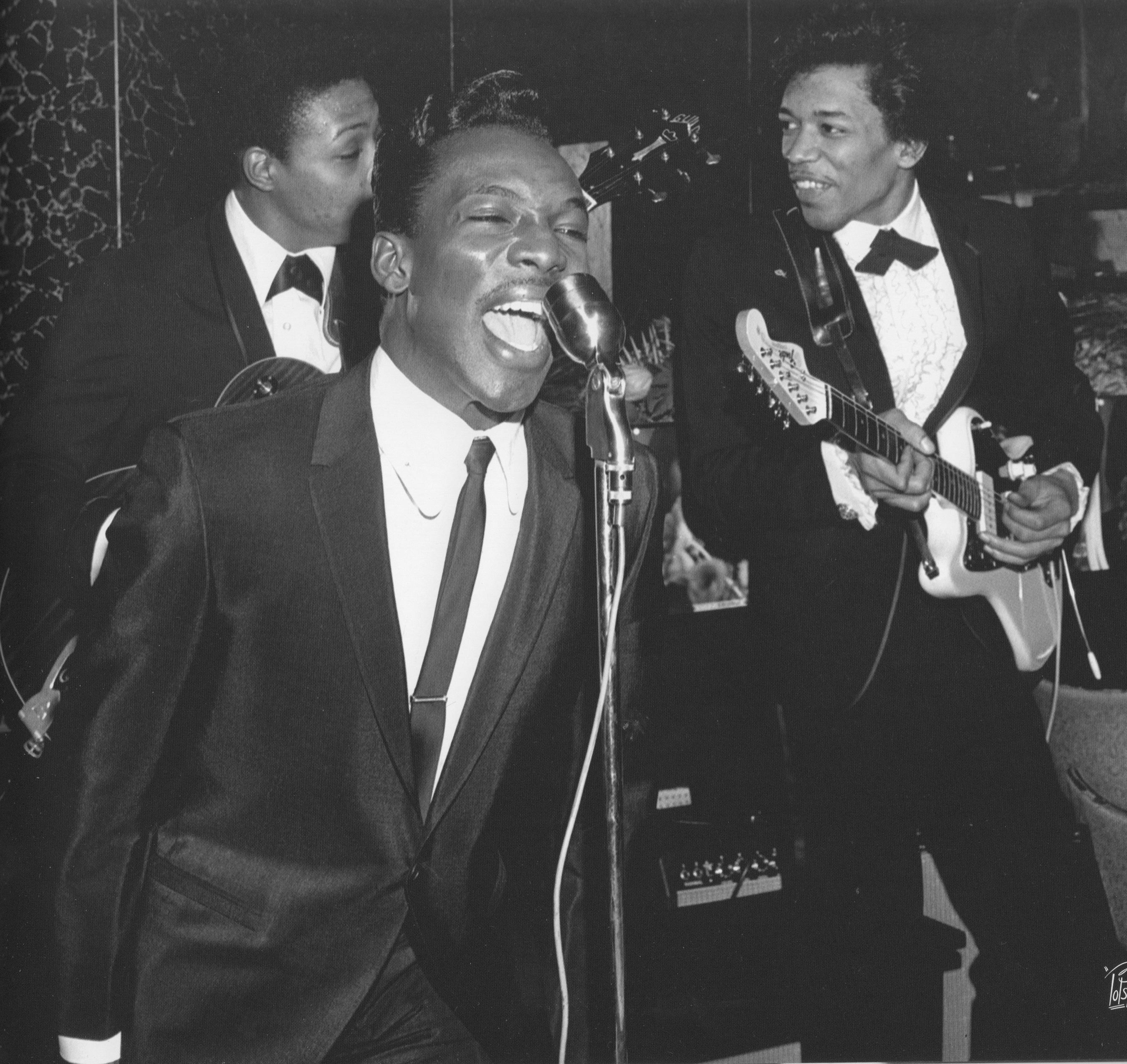 Wilson Pickett With Jimi Hendrix Atlantic Records Party In NYC C 1966