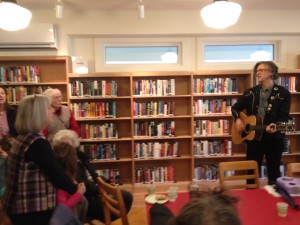 Robert Burke Warren performs at the Grand Re-opening.